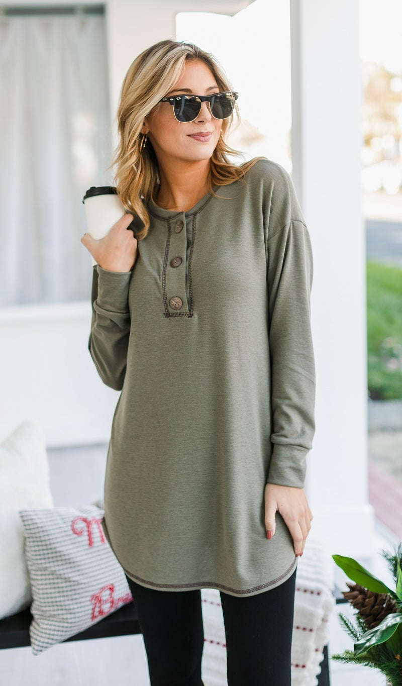The Kylie Tunic, Olive