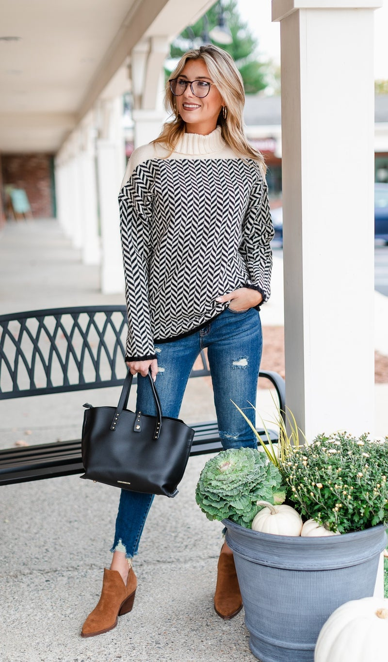 Pieces of Me Sweater, Black