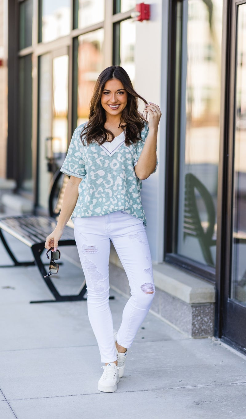 The Christina Top, Sage  ***APP ONLY SALE!***