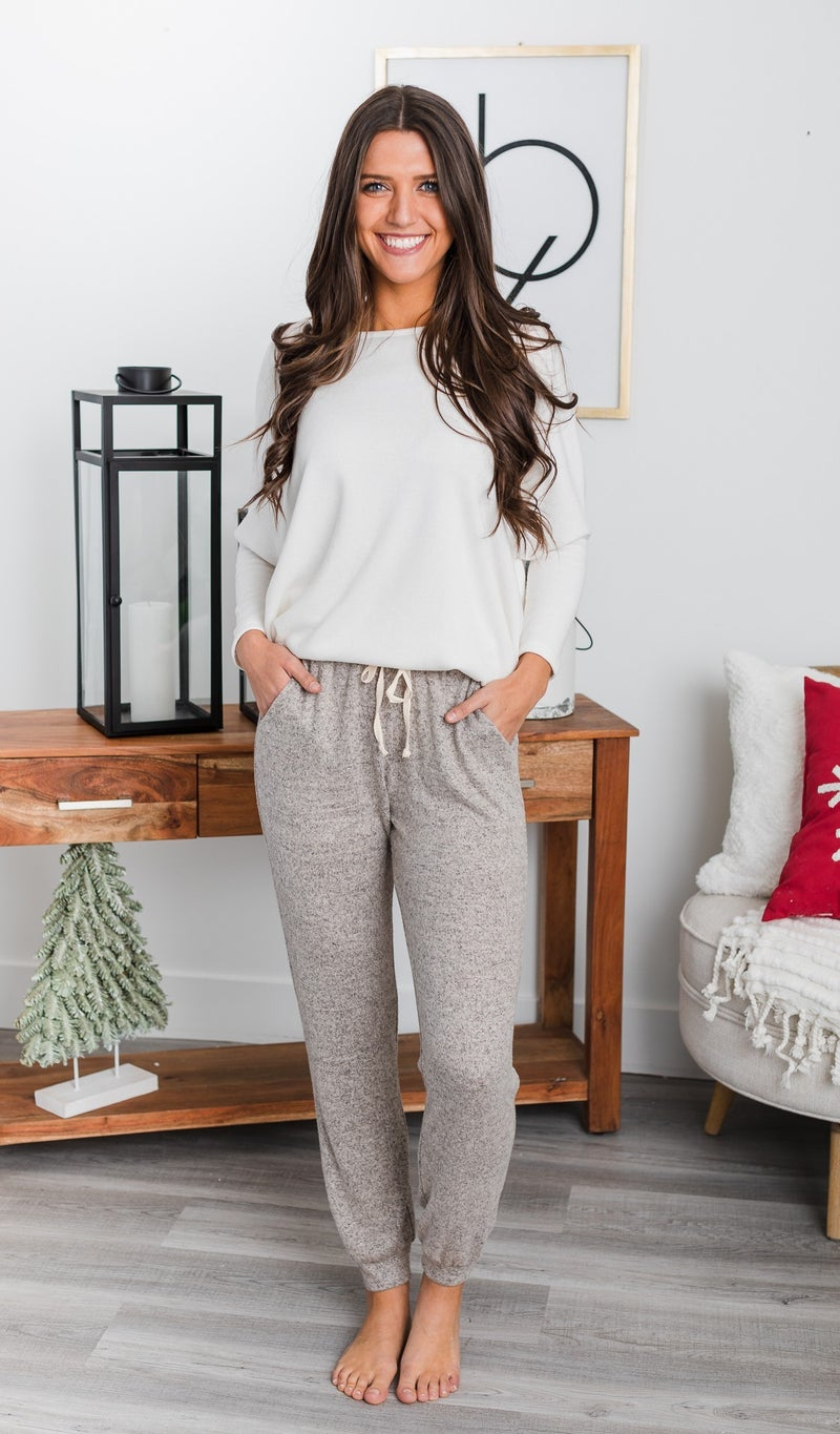 The One We Want Jogger, Black or Oatmeal