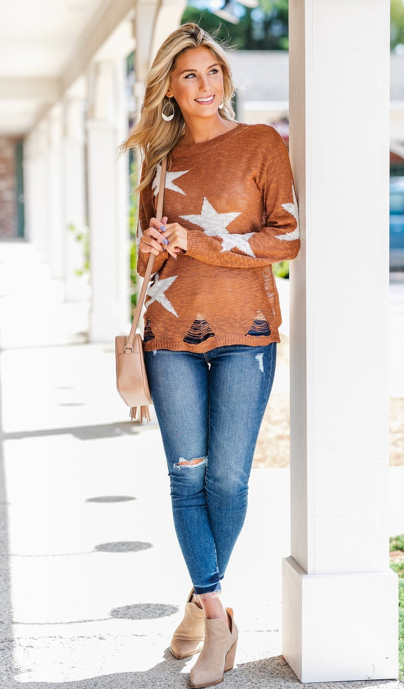 A Star Is Born Sweater, Taupe or Wine