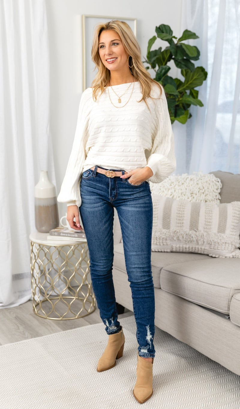 Winter Staple Sweater, Ivory