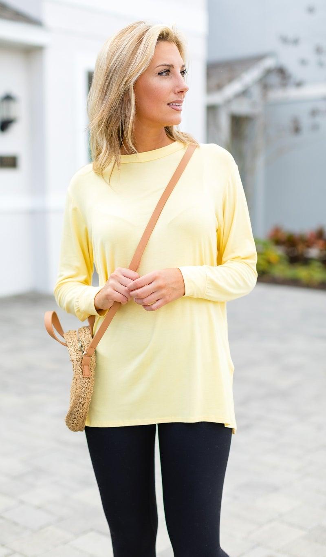 Anything But Basic Tunic, Yellow