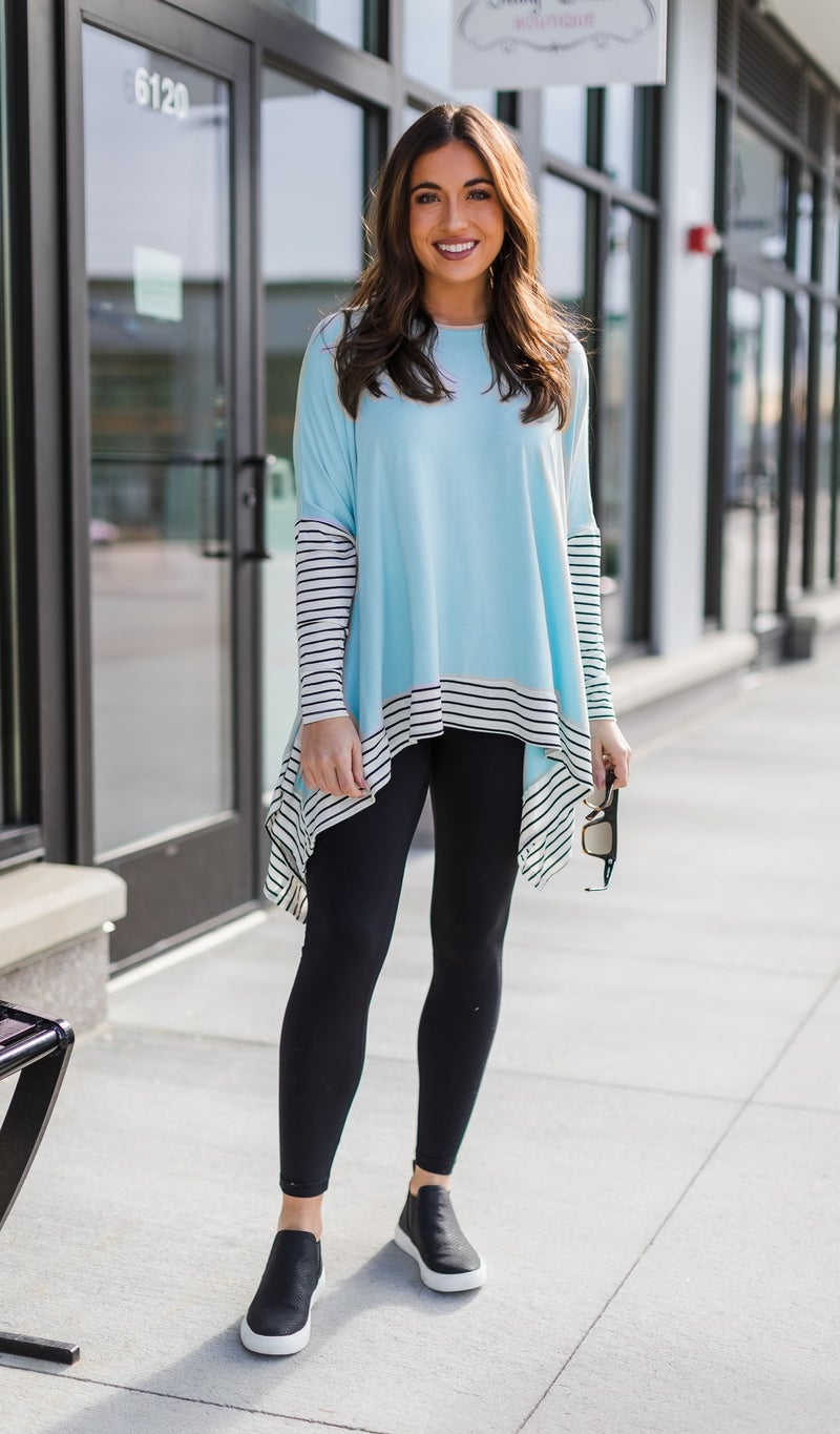 City Ready Top, Aqua *Final Sale*