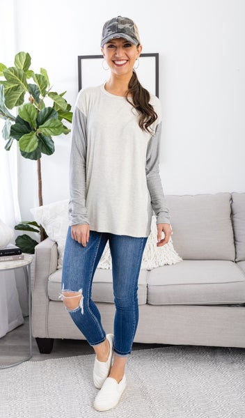 The Lana Top, Grey