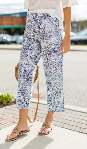 The MaryAnn Beach Pant, Blue