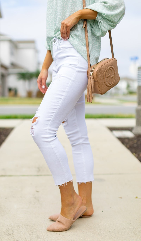 The Grace High-Rise Straight Leg Jean, White