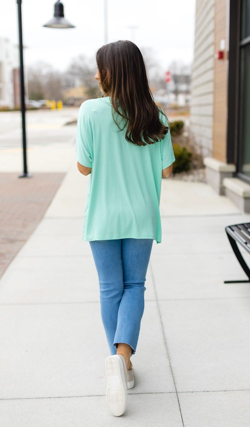 The Molly Tee, Lavender, Mint, Or Off White