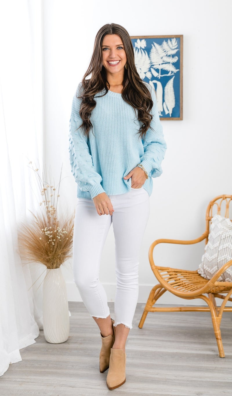 The Remi Sweater, Blue