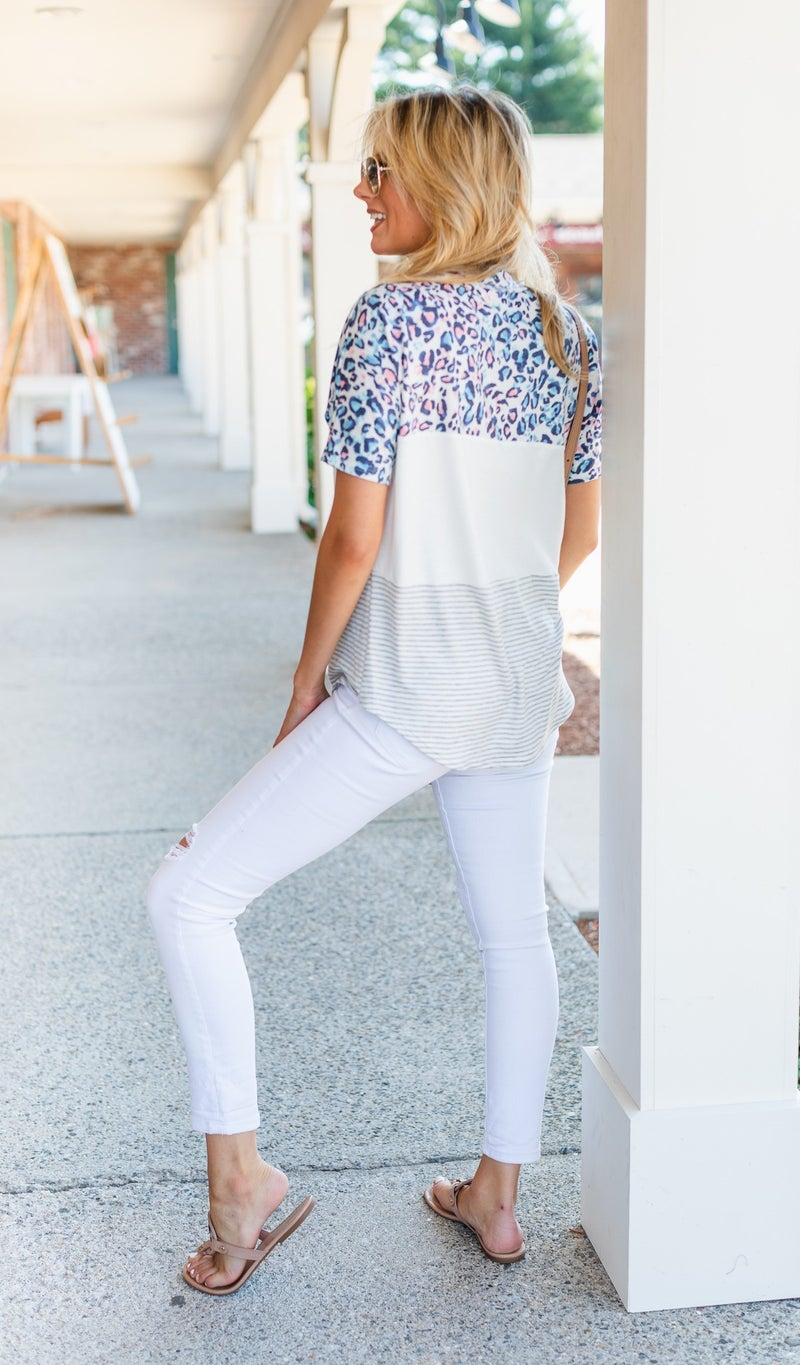 The Siena Top, Ivory
