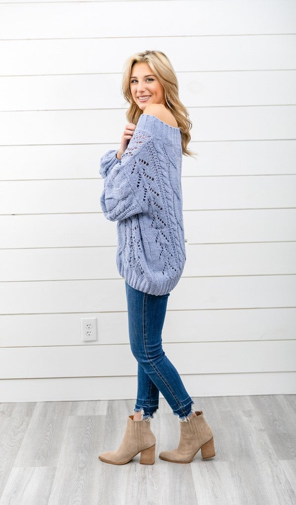 The Emmy Sweater, Periwinkle