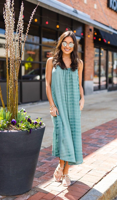 The Emerald Isle Dress, Sage