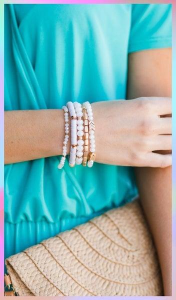 Maisey Bracelet, Grey or Ivory