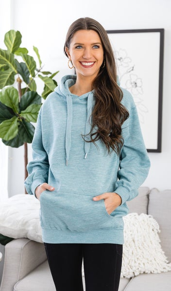 Decision Made Sweatshirt, Marled Dusty Blue