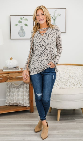 Longtime Love Top, Neutral print