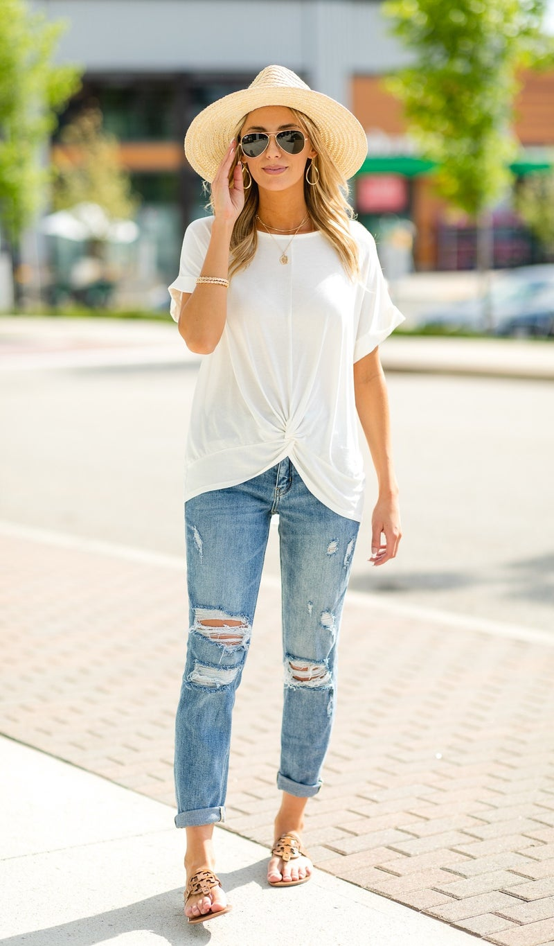 The Shelly Tee, Ivory