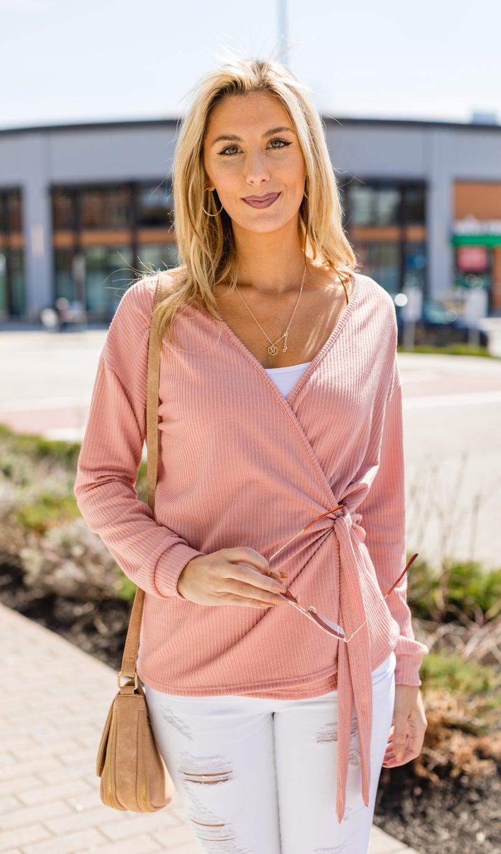 Kalita Wrap Top, Pink