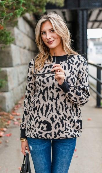 Bold Attitude Sweater, Beige *Final Sale*