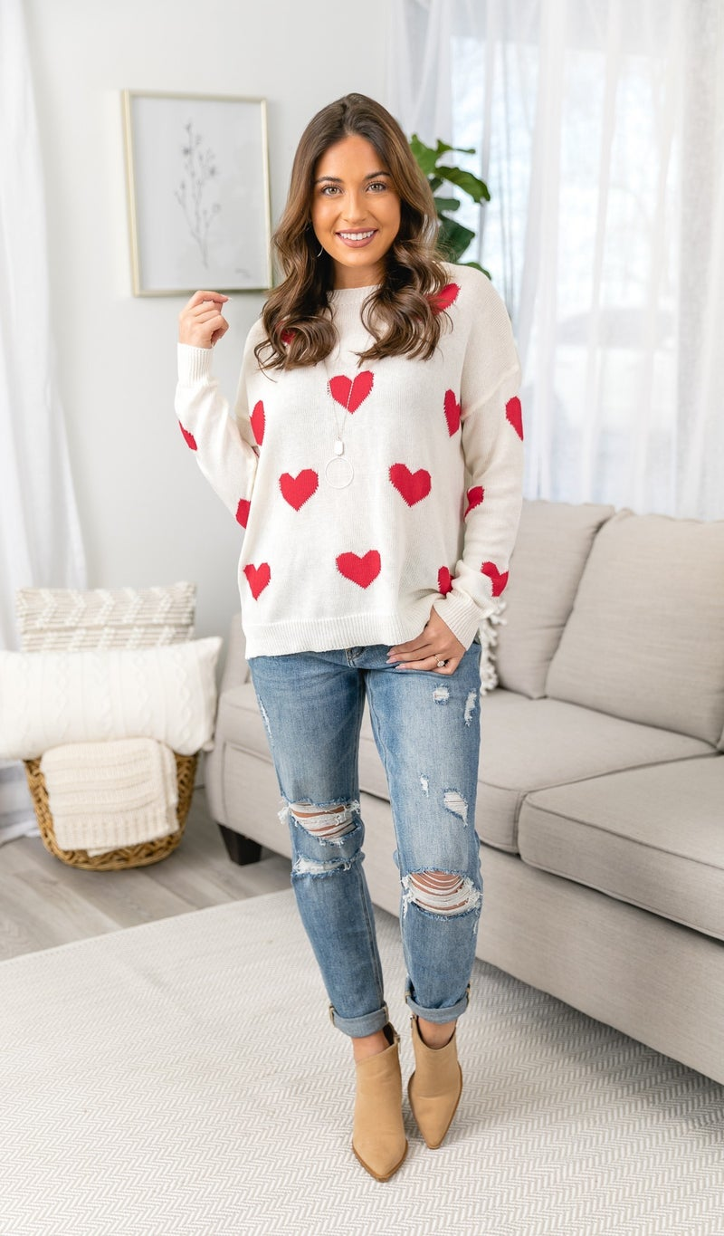 Be Mine Sweater, Ivory