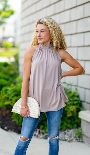 Ray Of Light Tank, Taupe