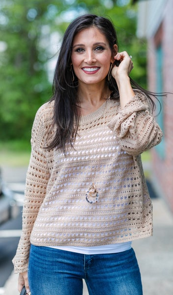 By The Water Sweater, Taupe