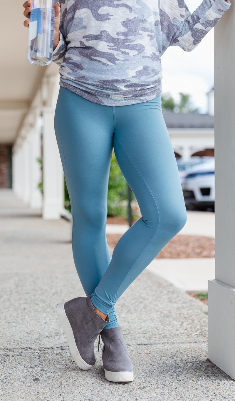 Worth The Wait Leggings, Navy, Olive or Blue