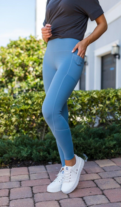 JB Premium Active Leggings, Blue