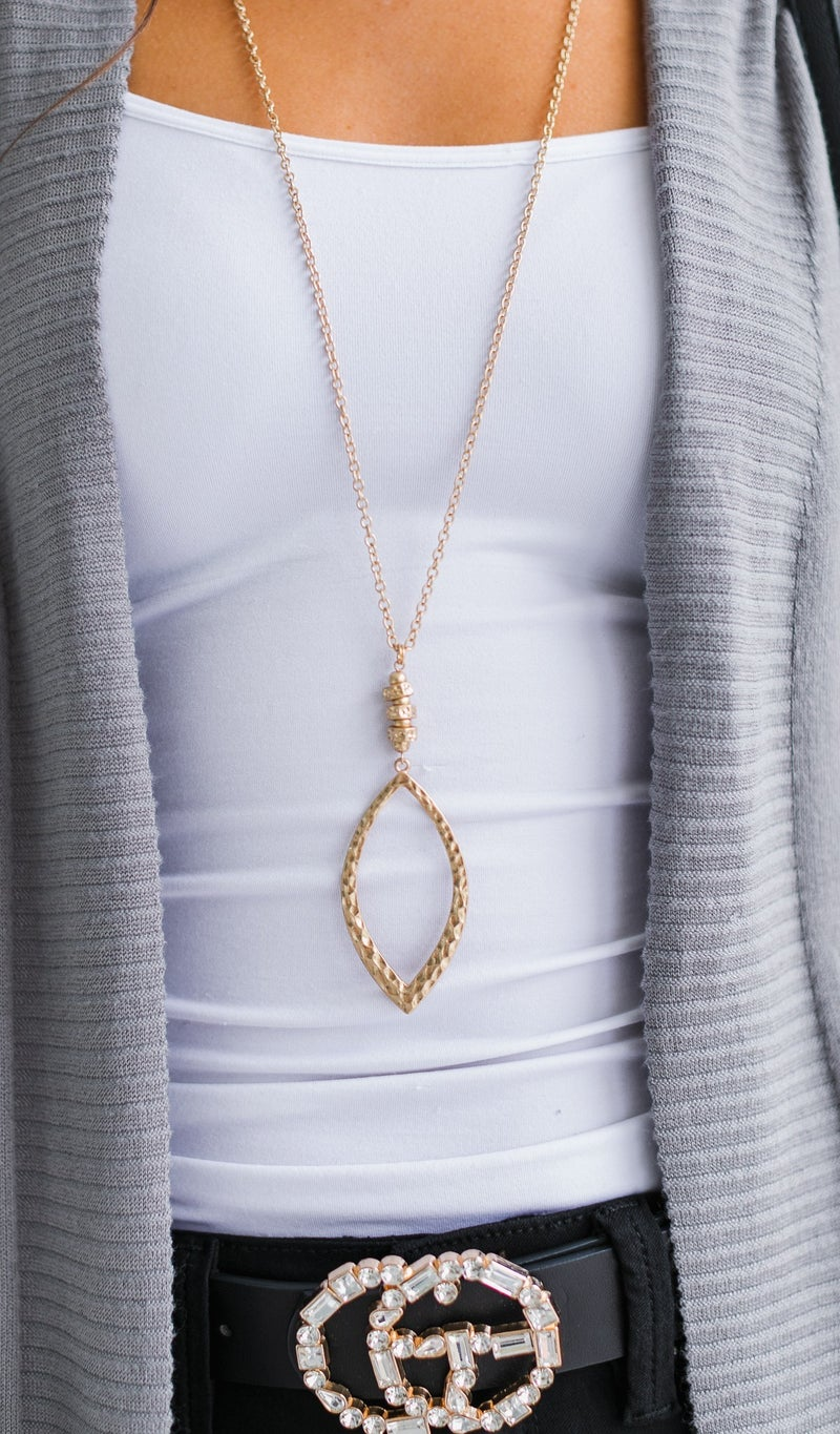 Long Layers Necklace, Gold