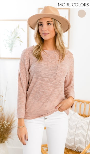 The Sylvia Top, Pink or Taupe