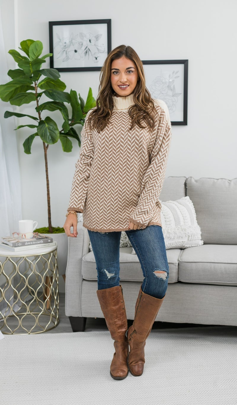 Pieces of Me Sweater, Taupe