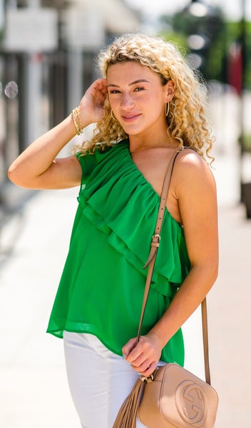 That Summer Glow Top, Kelly Green