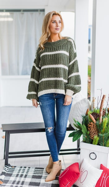 The Abba Sweater, Olive