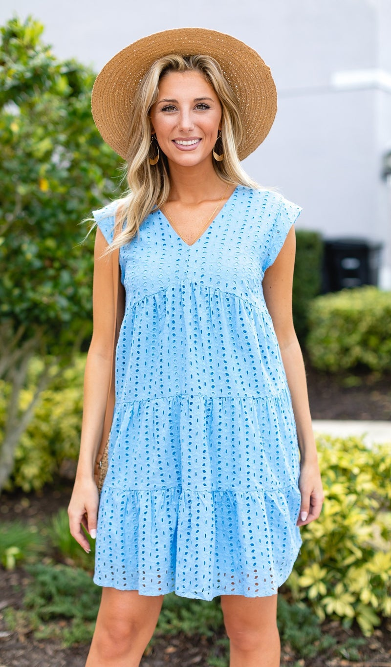 The Candace Dress, Blue