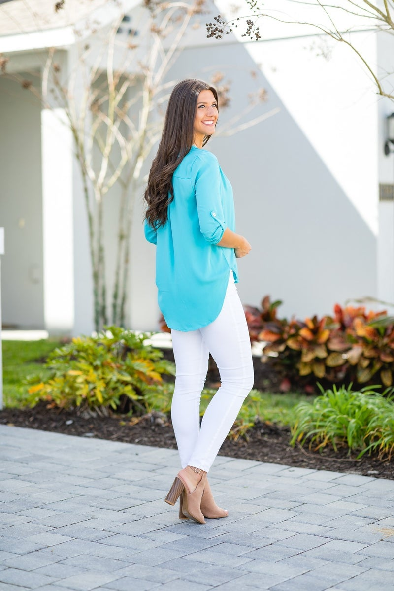 Best Impressions Blouse,  Turquoise