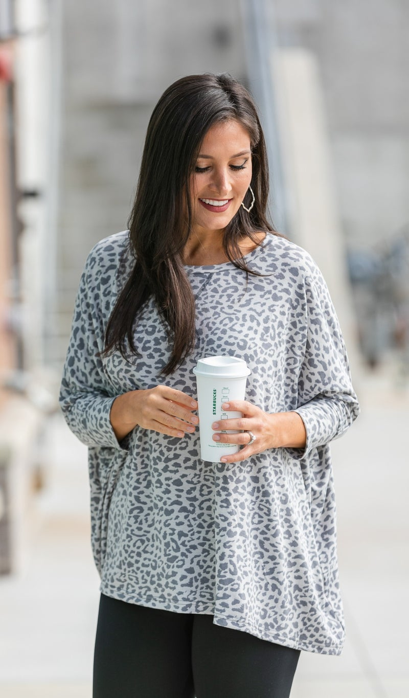 The One You Want Tunic, Grey