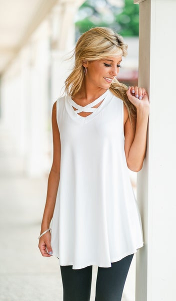 To The Keys Tunic, Ivory