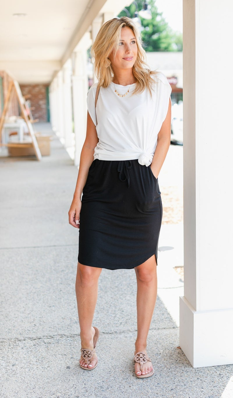 Take it Easy Skirt, Black, Olive or Rust
