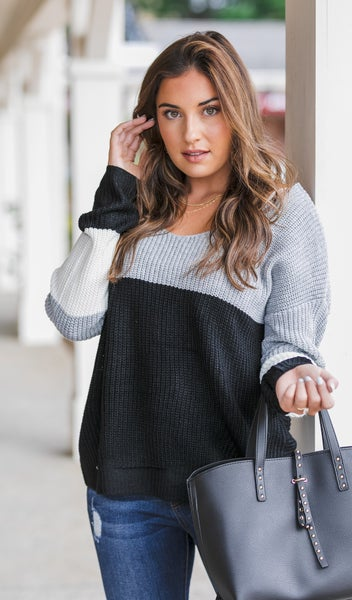 The Hanna Twist Sweater, Multi