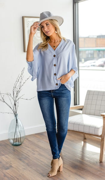 The Kelly Top, Light Blue