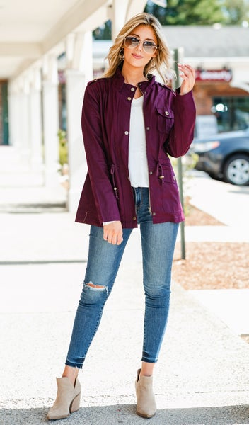 The Ultimate Fall Jacket, Berry