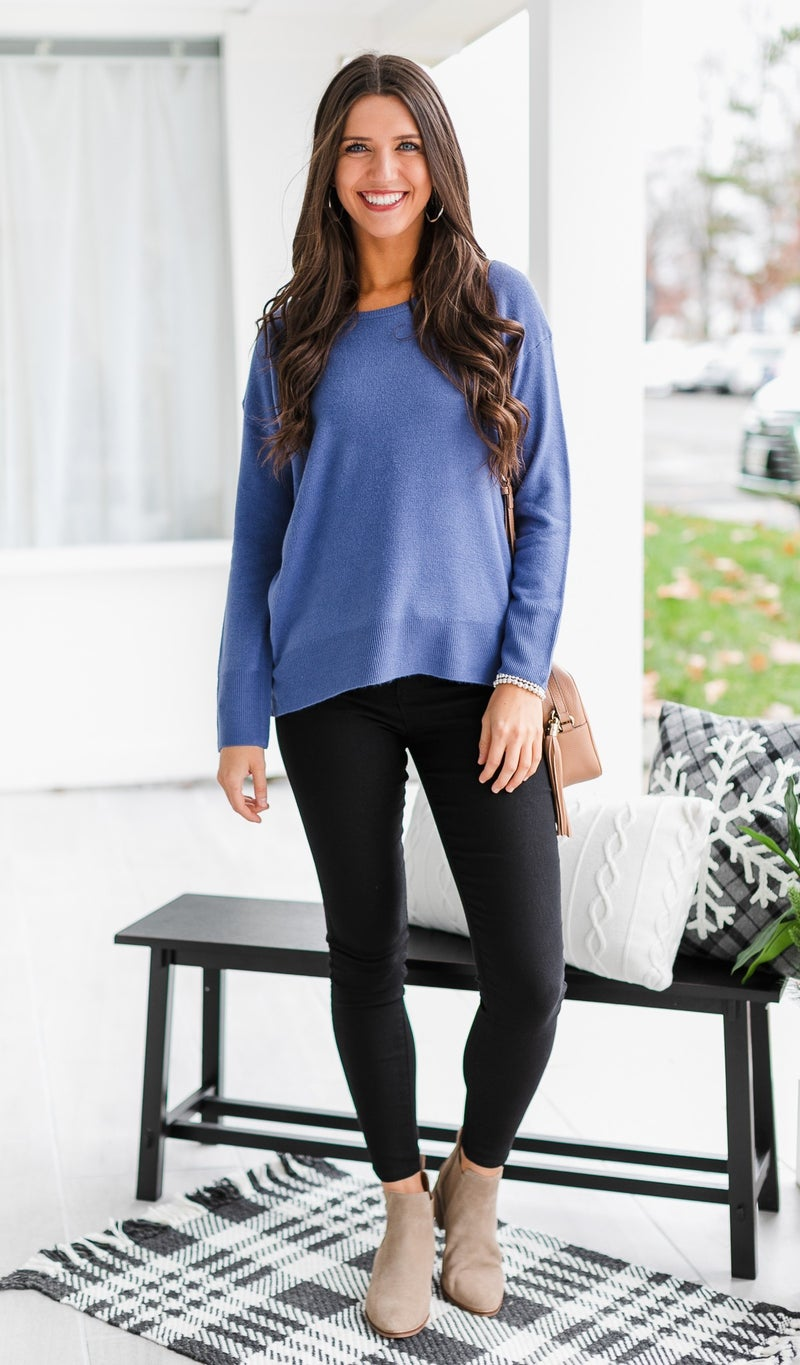 Day by Day Sweater, Blue