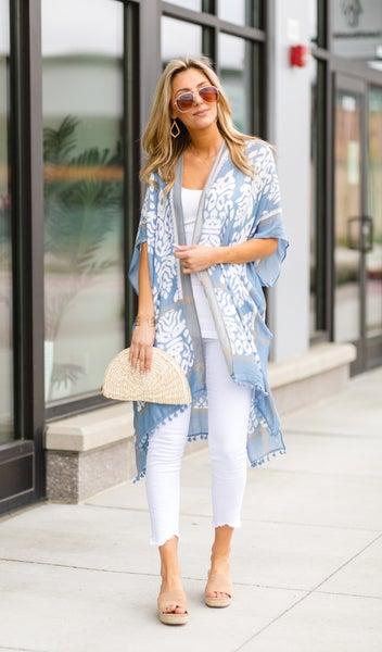 The Anguilla Kimono, Blue