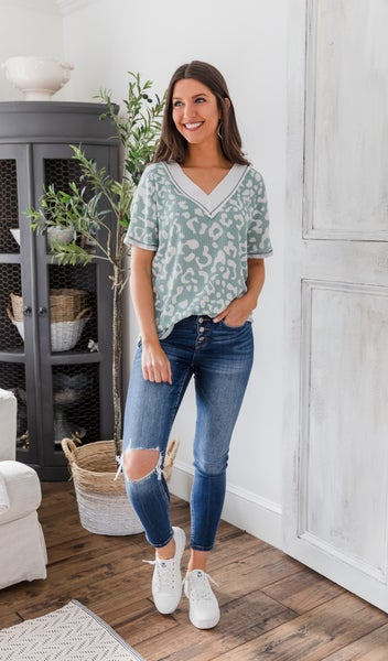 The Christina Top, Sage