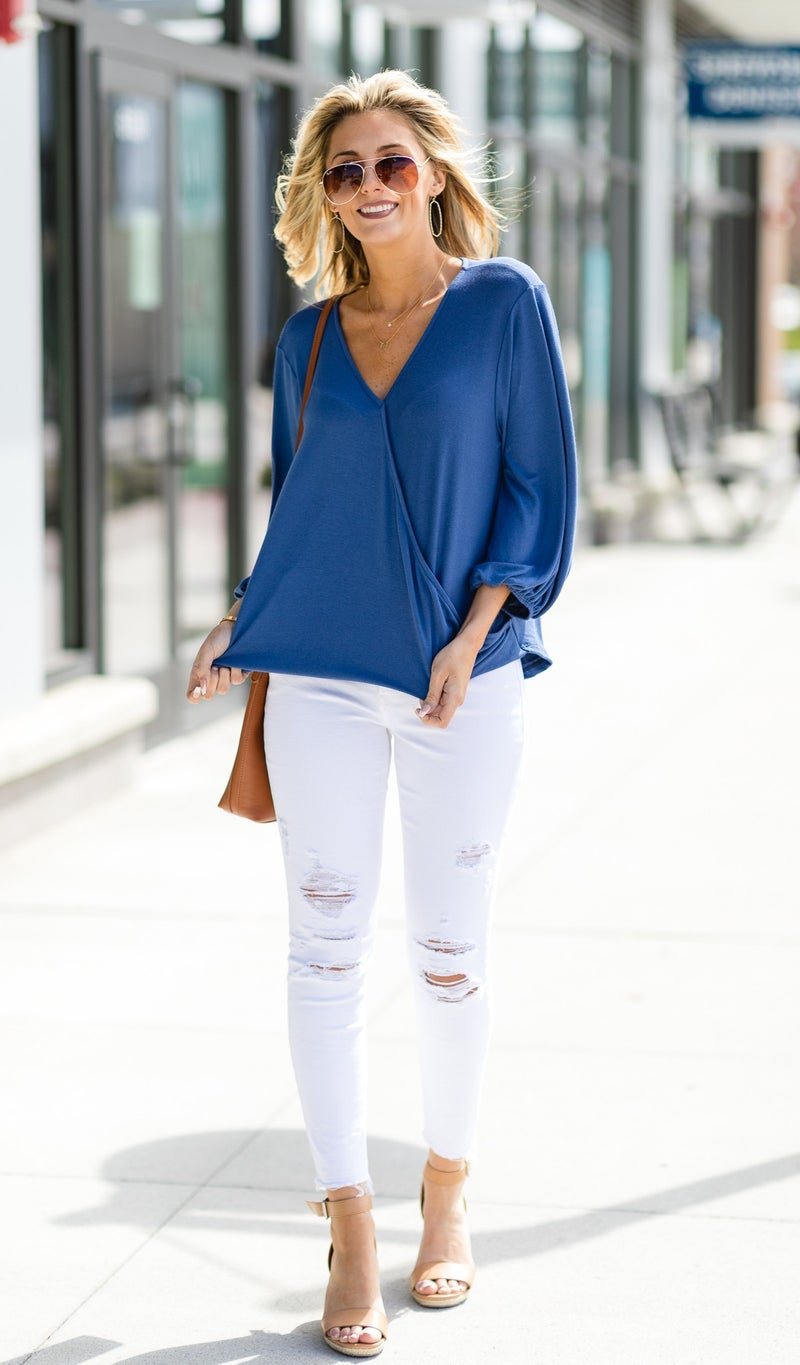 Total Sweetness Top, Denim