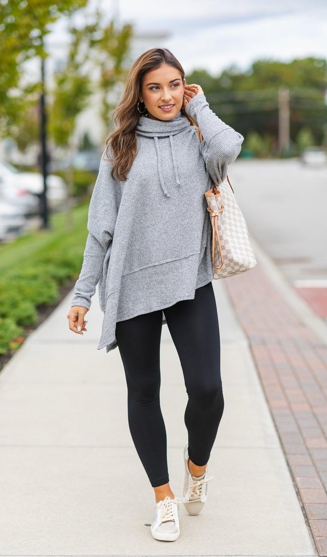 Fall Feels Top, Grey