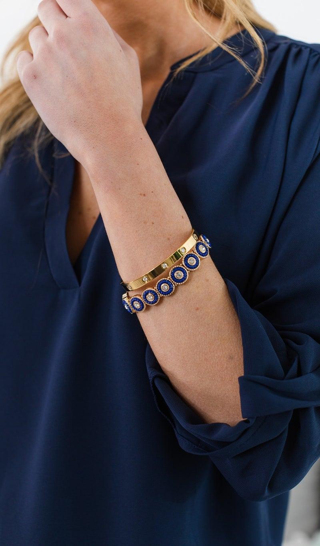 Classic Beauty Bracelet, Navy