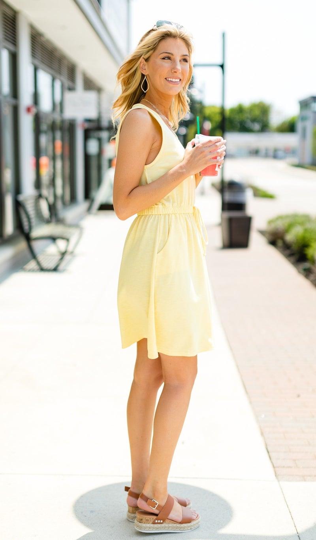 Beach Bliss Dress, Yellow