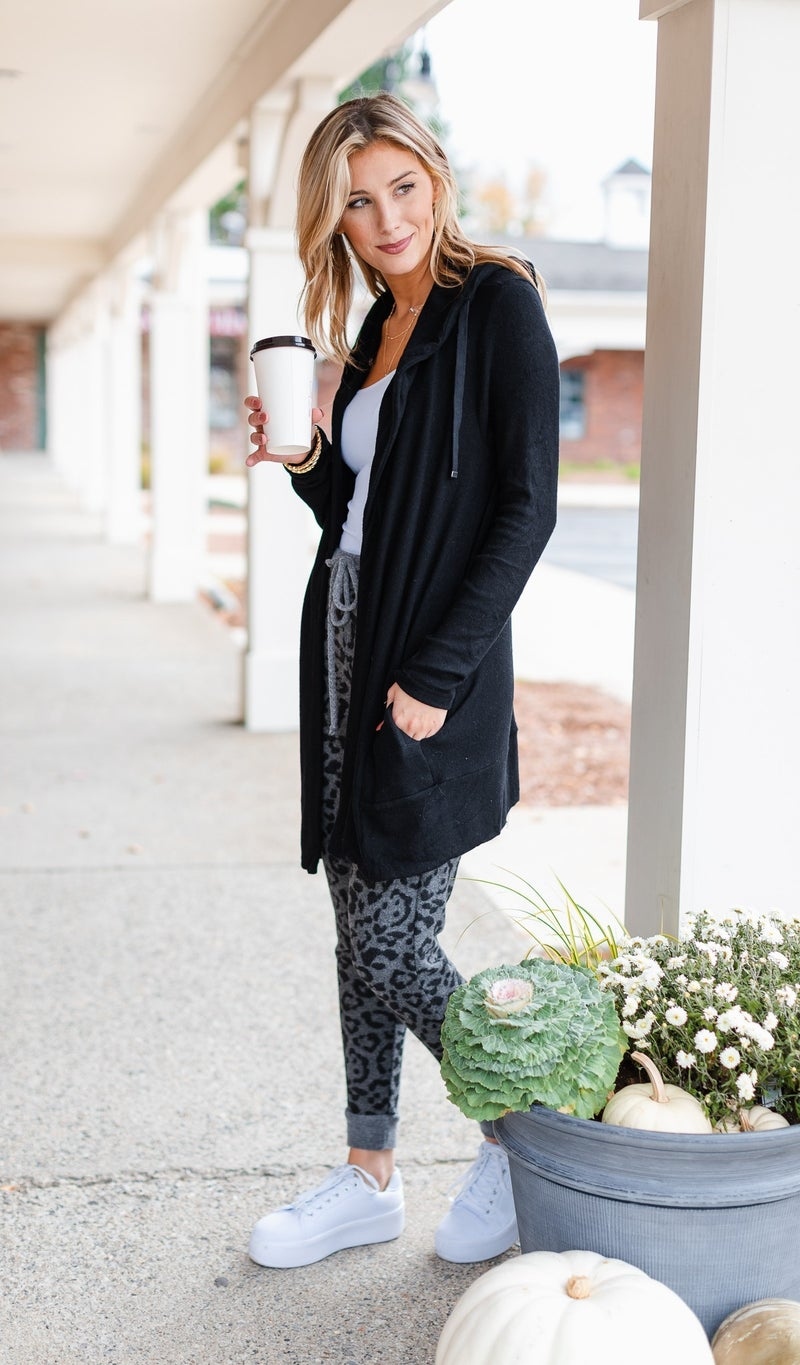 All Or Nothing Cardigan, Black