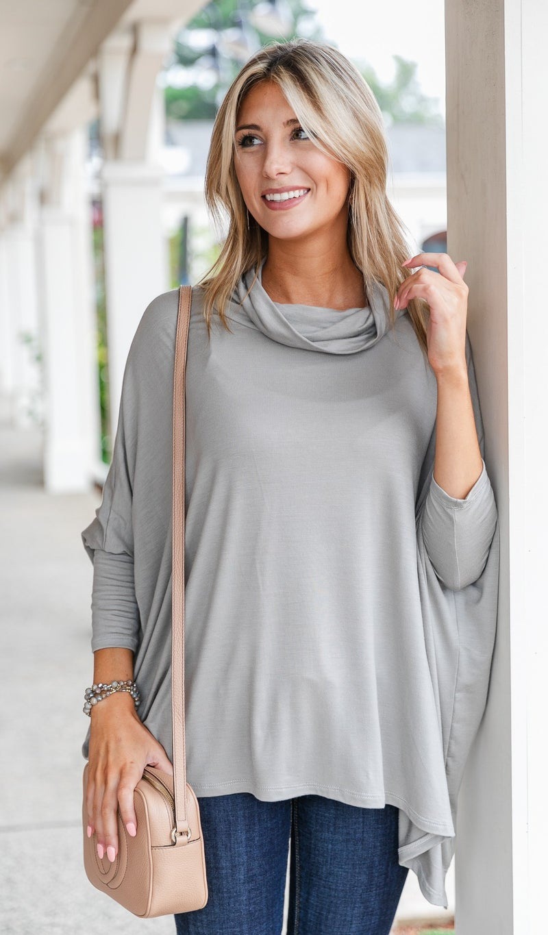The Maya Top, Olive or Taupe