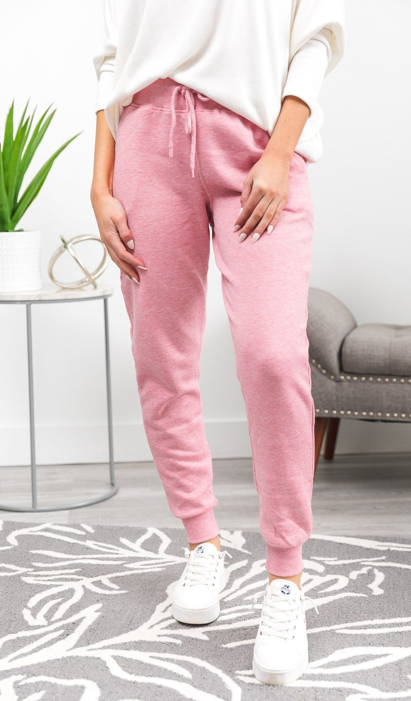 Stand Out jogger, Charcoal or Pink